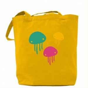 Bag Multi-colored jellyfishes - PrintSalon
