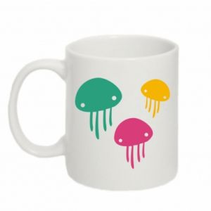 Mug 330ml Multi-colored jellyfishes - PrintSalon
