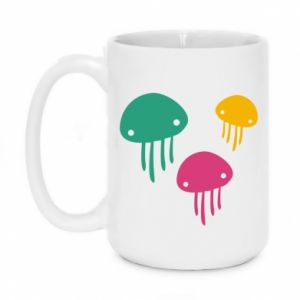 Mug 450ml Multi-colored jellyfishes - PrintSalon