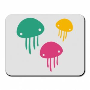Mouse pad Multi-colored jellyfishes - PrintSalon