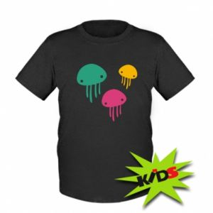 Kids T-shirt Multi-colored jellyfishes - PrintSalon