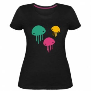 Women's premium t-shirt Multi-colored jellyfishes - PrintSalon
