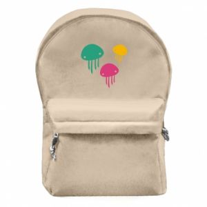 Backpack with front pocket Multi-colored jellyfishes - PrintSalon