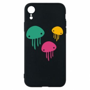 Phone case for iPhone XR Multi-colored jellyfishes - PrintSalon
