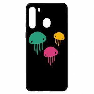Etui na Samsung A21 Multi-colored jellyfishes