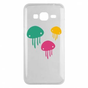 Phone case for Samsung J3 2016 Multi-colored jellyfishes - PrintSalon