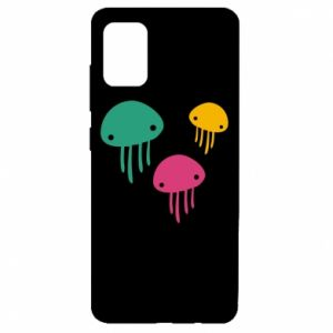 Etui na Samsung A51 Multi-colored jellyfishes