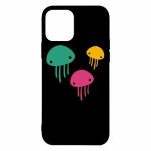 Etui na iPhone 12/12 Pro Multi-colored jellyfishes
