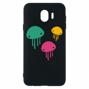 Phone case for Samsung J4 Multi-colored jellyfishes - PrintSalon