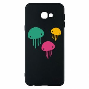 Phone case for Samsung J4 Plus 2018 Multi-colored jellyfishes - PrintSalon