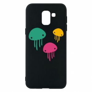 Phone case for Samsung J6 Multi-colored jellyfishes - PrintSalon