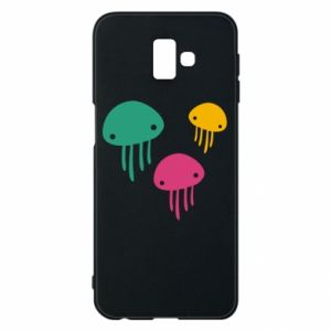 Phone case for Samsung J6 Plus 2018 Multi-colored jellyfishes - PrintSalon