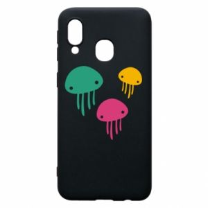Phone case for Samsung A40 Multi-colored jellyfishes - PrintSalon