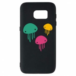 Phone case for Samsung S7 Multi-colored jellyfishes - PrintSalon