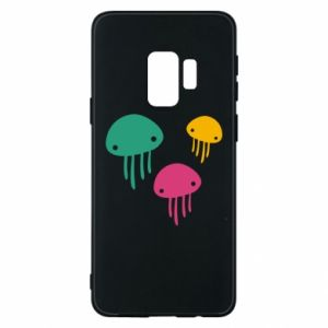 Phone case for Samsung S9 Multi-colored jellyfishes - PrintSalon