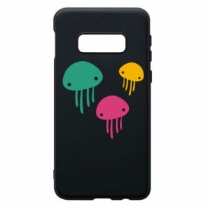 Phone case for Samsung S10e Multi-colored jellyfishes - PrintSalon