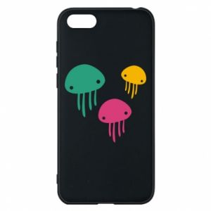 Phone case for Huawei Y5 2018 Multi-colored jellyfishes - PrintSalon