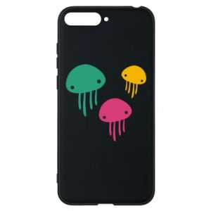Phone case for Huawei Y6 2018 Multi-colored jellyfishes - PrintSalon