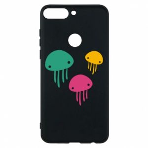 Phone case for Huawei Y7 Prime 2018 Multi-colored jellyfishes - PrintSalon