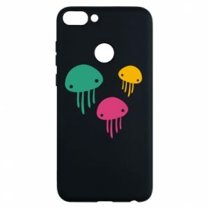 Phone case for Huawei P Smart Multi-colored jellyfishes - PrintSalon