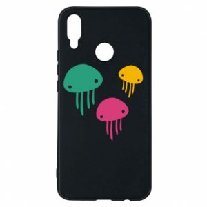 Phone case for Huawei P Smart Plus Multi-colored jellyfishes - PrintSalon
