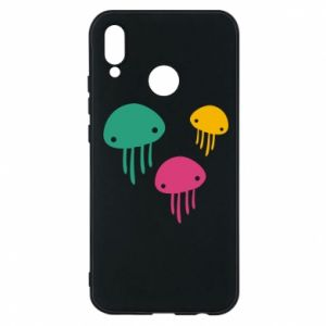 Phone case for Huawei P20 Lite Multi-colored jellyfishes - PrintSalon