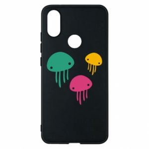 Phone case for Xiaomi Mi A2 Multi-colored jellyfishes - PrintSalon