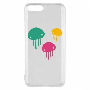 Phone case for Xiaomi Mi6 Multi-colored jellyfishes - PrintSalon