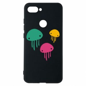Phone case for Xiaomi Mi8 Lite Multi-colored jellyfishes - PrintSalon
