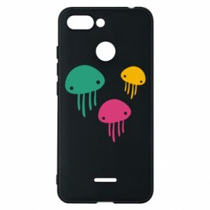 Phone case for Xiaomi Redmi 6 Multi-colored jellyfishes - PrintSalon