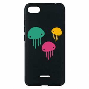Phone case for Xiaomi Redmi 6A Multi-colored jellyfishes - PrintSalon