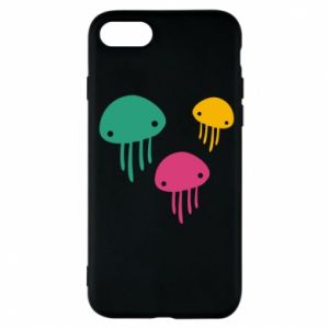 Phone case for iPhone 7 Multi-colored jellyfishes - PrintSalon