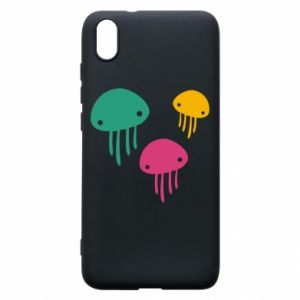 Phone case for Xiaomi Redmi 7A Multi-colored jellyfishes - PrintSalon
