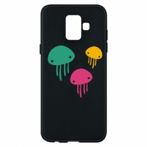Phone case for Samsung A6 2018 Multi-colored jellyfishes - PrintSalon