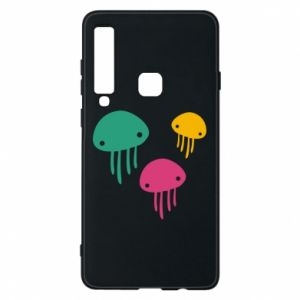 Phone case for Samsung A9 2018 Multi-colored jellyfishes - PrintSalon