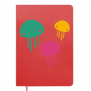 Notepad Multi-colored jellyfishes - PrintSalon