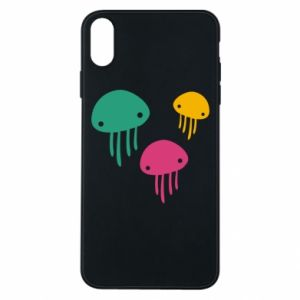 Phone case for iPhone Xs Max Multi-colored jellyfishes - PrintSalon