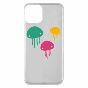 Phone case for iPhone 11 Multi-colored jellyfishes - PrintSalon