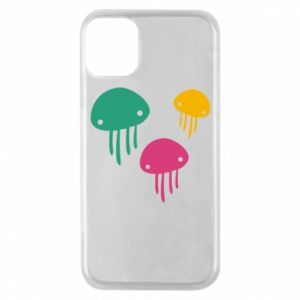 Phone case for iPhone 11 Pro Multi-colored jellyfishes - PrintSalon