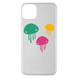 Phone case for iPhone 11 Pro Max Multi-colored jellyfishes - PrintSalon