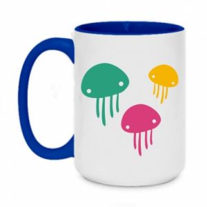 Kubek dwukolorowy 450ml Multi-colored jellyfishes