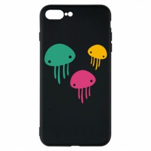 Phone case for iPhone 7 Plus Multi-colored jellyfishes - PrintSalon