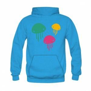 Bluza z kapturem dziecięca Multi-colored jellyfishes