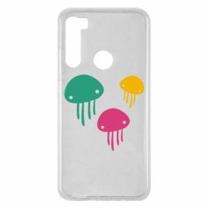 Etui na Xiaomi Redmi Note 8 Multi-colored jellyfishes