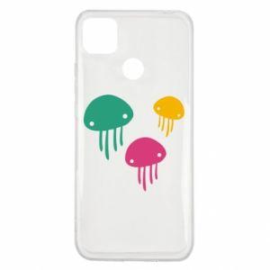 Etui na Xiaomi Redmi 9c Multi-colored jellyfishes
