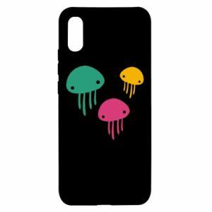 Etui na Xiaomi Redmi 9a Multi-colored jellyfishes