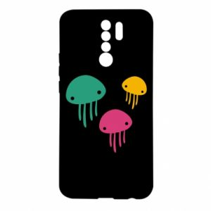 Etui na Xiaomi Redmi 9 Multi-colored jellyfishes