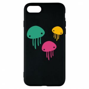 Phone case for iPhone 8 Multi-colored jellyfishes - PrintSalon