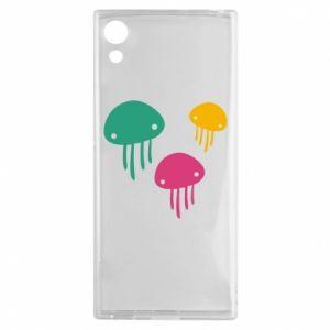 Etui na Sony Xperia XA1 Multi-colored jellyfishes
