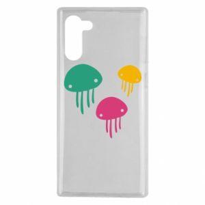 Etui na Samsung Note 10 Multi-colored jellyfishes